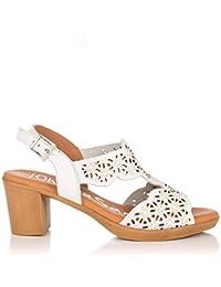 e3b3b37fb0d Amazon.es  Piel - Sandalias y chanclas   Zapatos para mujer  Zapatos ...