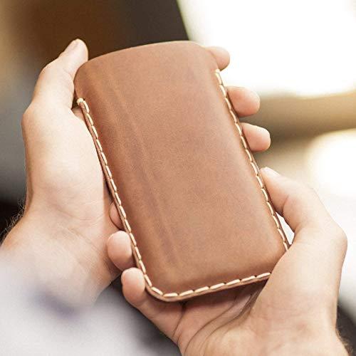 Leder Hülle für Samsung Galaxy S9 S8 Cover Braunes Etui Tasche Case Galaxy Bogen