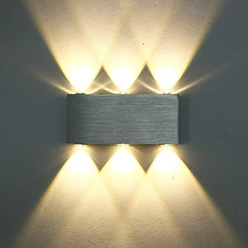 Maxmer Apliques de Pared Mueble 6 LED 6 W, Blanco Cálido