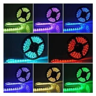 Abco Tech Flexible Color Changing RGB Ribbon Flexible LED Light Strip 12v 16.4 FT