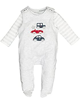 SALT AND PEPPER Baby-Jungen Strampler NB Playsuit Bear Uni Auto