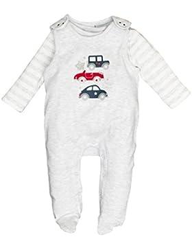 SALT AND PEPPER Baby-Jungen Strampler NB Playsuit Bear Uni Auto
