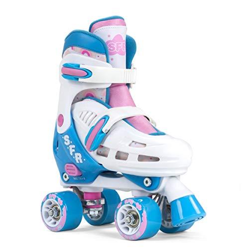 SFR Storm III verstellbare Rollschuhe Mädchen weiß-rosa weiß-rosa, 25.5-29 25.5
