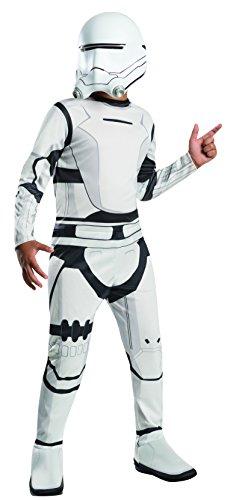 Wars – Das Erwachen der Macht, Sturmtruppen-Anzug Super Deluxe, Größe M, für 5–7Jahre, Größe 128–140 cm (Luke Skywalker Kostüm The Force Awakens)