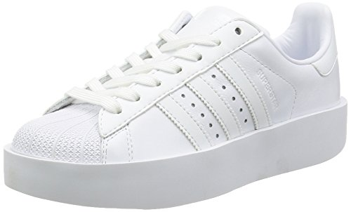 adidas Superstar Bold W, Sneakers Basses Femme Blanc