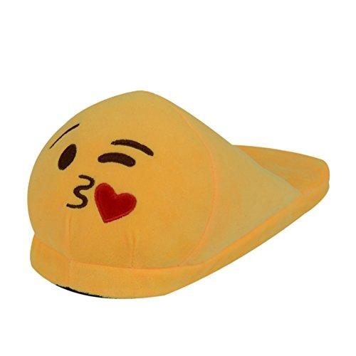 Pantofole Peluche Emoji Unisex Adulto Scarpe Cosplay Halloween Costume Attrezzatura Ciabatte Invernali Carinissime Morbide, Comode e Calde Regalo di Compleanno - LATH.PIN Kiss