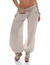 Malito Bombacho clásico Design Boyfriend Aladin Harem Pantalón Sudadera  Baggy Yoga 3417 Mujer ... 16eb24250f25