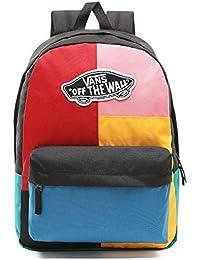 Vans Realm Backpack Patchwork Mochila Unisex Negro c6d7f88631b