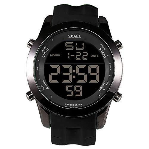 XZDCDJ Digitale Uhren Herren Sportuhr Armbanduhr Lässig und einfach Digital Alloy Dial Komfortable Strap Sport wasserdichte Uhr E -