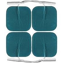 Elettrodi pad per pelle sensibile e delicata. 5x5 cm. Per elettrostimolatori TENS EMS con attacco universale a spinotto da 2mm da axion.Germania. 4 pezzi. Compatibili con Globus e Tesmed