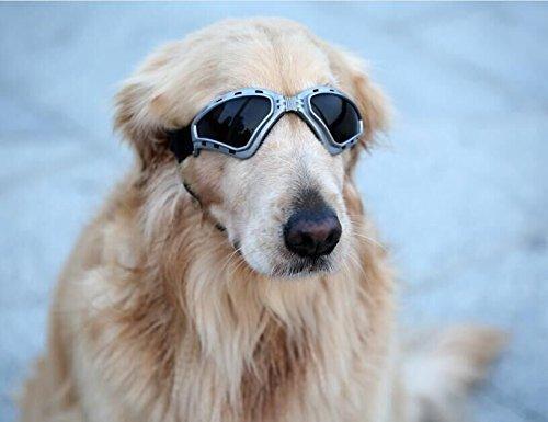Namsan Hund Brille V-Sonnenbrille UV-Schutz Fashion Eyewear Goggles für Groß Hunde Haustier, Grau