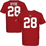Majestic Carlos Hyde #28 San Francisco 49ers Eligible Receiver NFL T-Shirt M