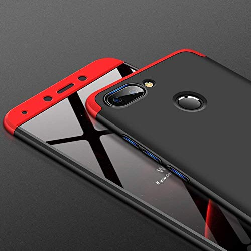 BuyFeb® 3 in 1 Detachable Anti-Scratch PC Hard Case 360° Full Body Shockproof Protection Back Case Cover Xiomi RedMI 6