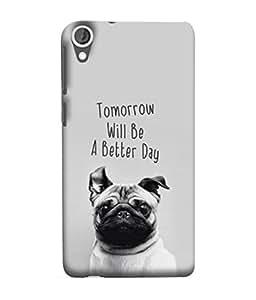 PrintVisa Designer Back Case Cover for HTC Desire 825 (Background Puppy Pedigree Breed Animal )