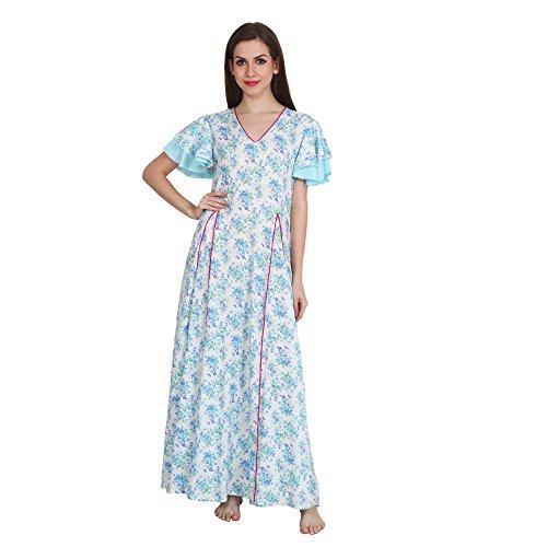 Patrorna Floral Print A Line Peplum Maternity Nighty Nightwear for Women Size S-7XL