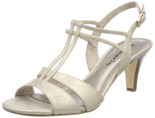 Tamaris Damen 28304 Slingback Sandalen, (Light Gold), 37 EU