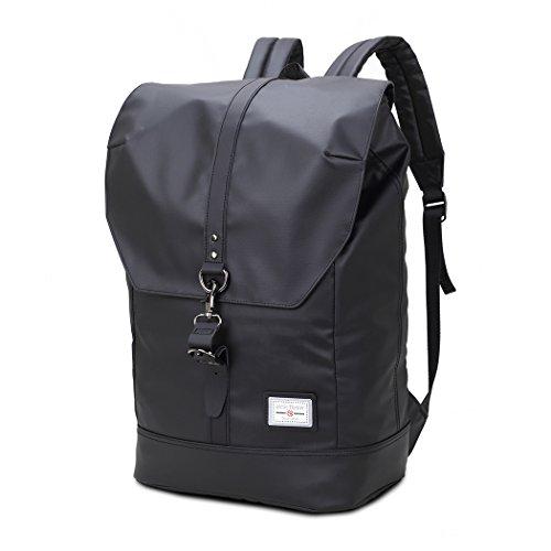 WindTook 15.6 Zoll Laptop Rucksack Backpack Daypack Schulrucksack Notebook Damen Herren für Uni Arbeit Campus Freizeit, 20L, 30 x 16 x 40cm, Schwarz