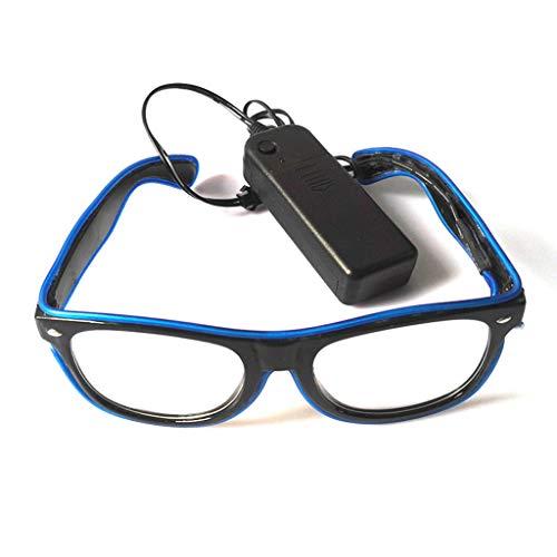 SoundJA Sonnenbrille,Fahrradbrille,Sportbrille,Sportsonnenbrille,Sonnenbrille Herren Polarisiert, LED-Brillen Leuchten Shades Flashing Hochzeit Party Karneval (Herren Nerd Hochzeit Band)
