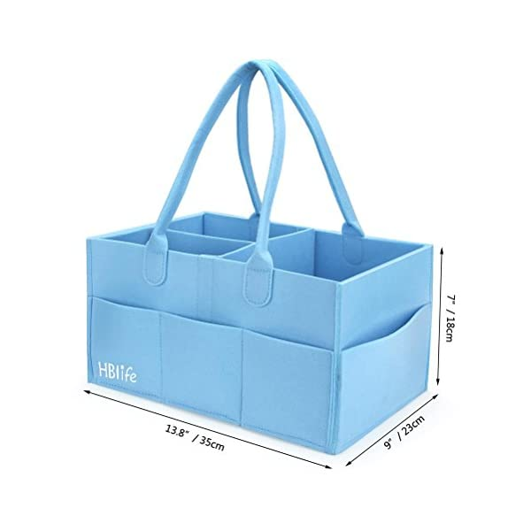 HBlife Baby Diaper Caddy Portable Nappy Organiser Felt Basket with Changeable Compartments 3