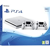 PlayStation 4 - Konsole (500GB, weiß, slim) inkl. 2. DualShock Controller
