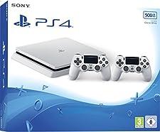 Console PS4 500 Go Châssis D - Blanc Slim + 2nd DualShock - Blanc