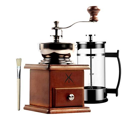 SDKF Manuelle Kaffeemühle Kaffeebohnenmühle Retro-Mühle Haushalt, Keramikschleifkern, 95 * 175mm, 2 Pakete (größe : 2)