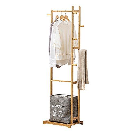 Xiaolin Crochet de vêtements Rack monté au Sol Chambre Simple Moderne Minimaliste Porte-Manteau à la Maison Utilisation en Bois Massif Assemblée Porte-Manteau