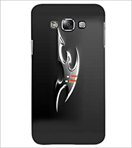 Printdhaba Ninja Weapons D-1053 Back Case Cover For Samsung Galaxy E7