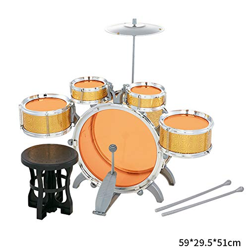 rum Set - Musikinstrument Spielzeug mit kleinen Beckenhocker, Early Learning Education Rock Percussion Kinderspielzeug,A8008Efivedrums ()
