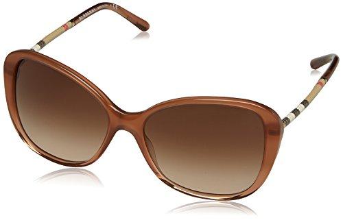 Burberry 0be4235q 317313, occhiali da sole donna, marrone (brown gradient/browngradient), 57