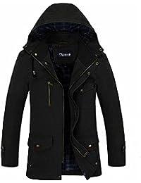 Zicac-MODELE03 Manteau homme zippé à capuche en coton manches longues l `automne et l`hiver