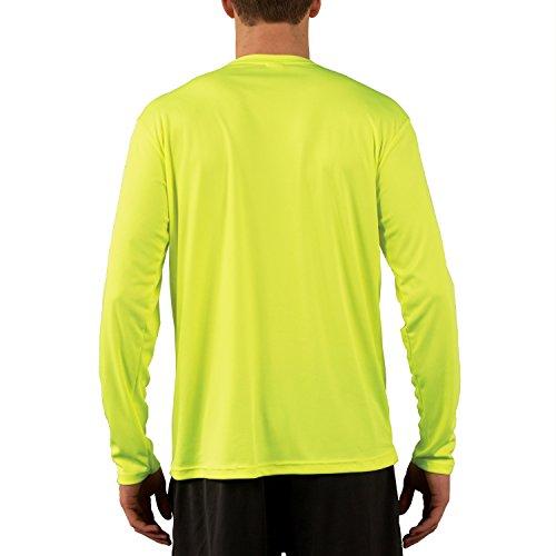 Vapor Apparel Herren UPF 50 UV Sonnenschutz Langarm Performance TShirt  Sicherheits Gelb
