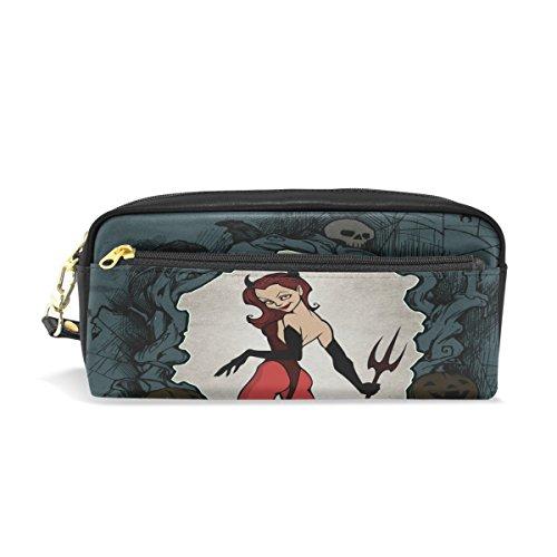 Bleistift Fall, Pen Tasche Make-up Tasche Geldbörse groß Kapazität Wasserdicht Halloween von Studenten oder Frauen (Halloween Geldbörsen)