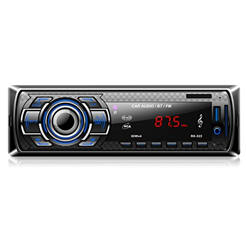 ieGeek Autoradio MP3, USB/ CD-Receiver mit Bluetooth Audio Empfänger/ MP3-Player/ UKW Radio von Samsung / Huawei / iPhone Control, USB/SD/AUX Freisprechfunktion und integriertes Mikrofon Standard Einba