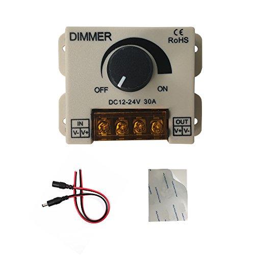 PWM 12V 24V 30A / 720W LED-Dimmer-Steuerung für einfarbige LED-Streifen-Beleuchtungs-Lampen-Band-helle schwarze Knopf-Steuerhelligkeit, 12v-Dimmer, pwm-Dimmer -