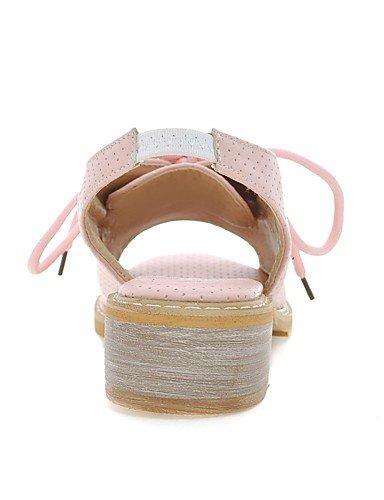LFNLYX Scarpe Donna-Sandali-Ufficio e lavoro / Formale / Casual-Spuntate / Alla schiava-Basso-Finta pelle-Nero / Rosa / Beige beige