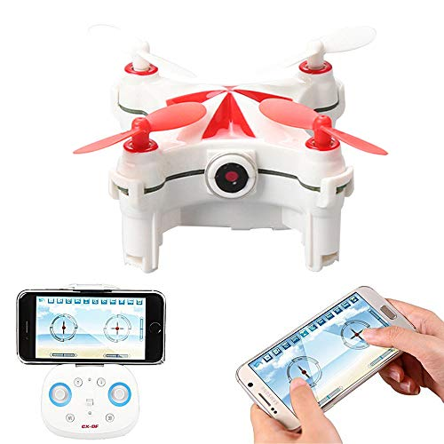 OMZBM Ultradünne Mini Selfie Drohne mit Kamera 720P HD WiFi FPV Live-Übertragung,2,4 GHz 4-Kanal,Altitude-Hold,3D-Flip,Flugbahn,Positionierung des optischen Flusses, Palm Control RC Quadcopter,Red