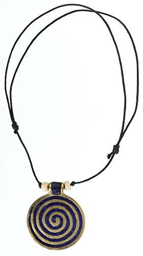 HEMAD collana Viking spirale 6cm ottone Medioevo gioielli