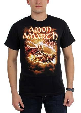 Amon Amarth - Mens Thor Tour Dates T-Shirt, Size: XX-Large, Color: Black