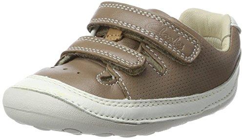 Clarks Baby Jungen Tiny Boy Krabbel- & Hausschuhe, Beige (Mushroom Leather), 18.5 EU
