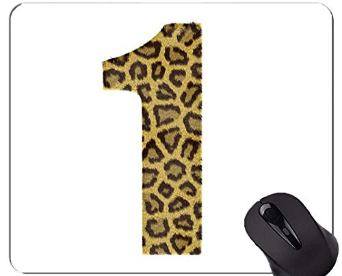 Yanteng Alfombrilla para ratón con Borde de Bloqueo, una Base de Goma Antideslizante de Wild Leopard Mousepad