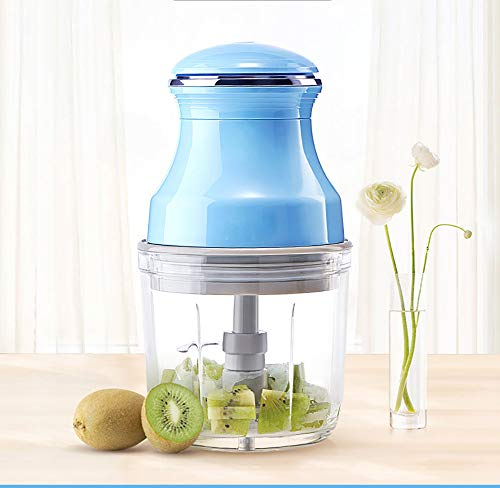 Cpippo 4-in-1-Babynahrungszubereiter, Dampfgaren und Mixen, 4 Mahlzeiten, 200W 600ml Küchenmaschine Multifunktional mit 420 Edelstahl Material, 3-Lagiger Stereo-Schneidkopf Blau
