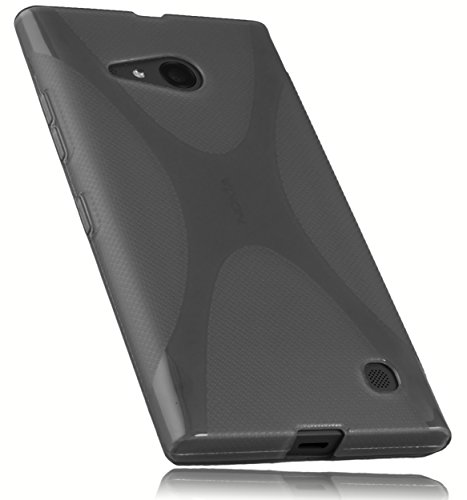 mumbi Schutzhülle für Nokia Lumia 730/735 Hülle transparent schwarz