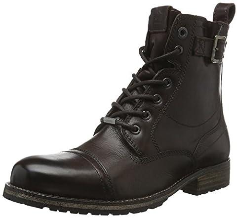 Pepe Jeans London Herren Melting Buckle Combat Boots, Braun (Dark Brown 898), 44 EU
