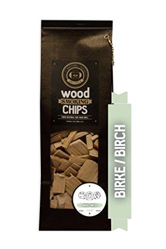 Grillgold Wood Smoking Chips – copeaux de bois d'bouleau pour fumage 1,75 Liter