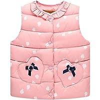 LSERVER Kinder Daunenweste Leichte Warme Weste Baby Dicke Kinderkleidung