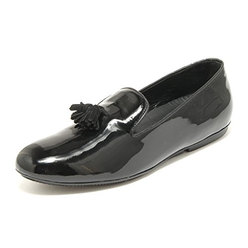 35523 mocassini donna HOGAN wrap scarpe loafers shoes women Nero