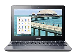 Acer C720 11.6-inch Chromebook (Silver) - (Intel Celeron 1.4GHz, 2GB RAM, 16GB SSD, WLAN, BT, Webcam, Integrated Graphics, Google Chrome)