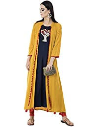 AnjuShree Choice Women Stitched Rayon Embroided Kurta Kurtis for women (New Festival Collection)