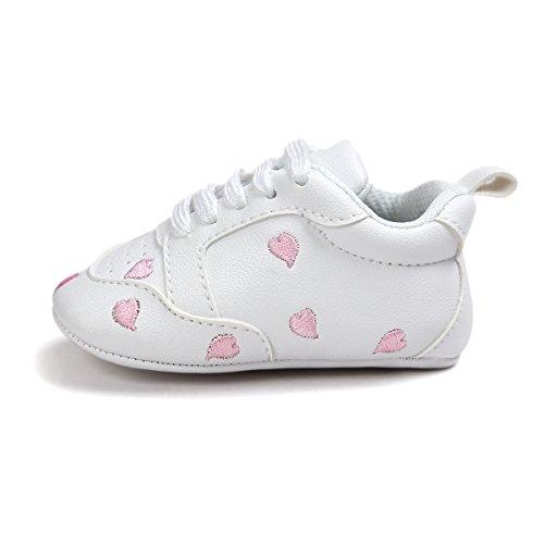 Itaar , Baby Jungen Lauflernschuhe rosa herzen 0-6 Monate rosa herzen